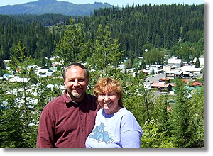 Harv & Colleen Overlooking Pierce